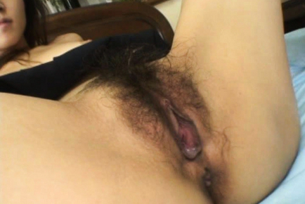 Hot yamasaki shows off her hairy cunt 6