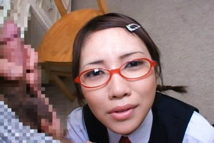 Hinna ohtsuka. Hinna Ohtsuka Asian in uniform gets cumshot on specs from rough penis