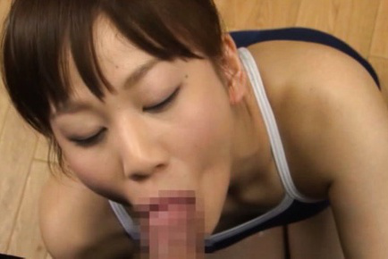 Yuri shinomiya. Yuri Shinomiya Asian in gym suit strokes and