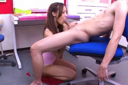 Yukina momota. Yukina Momota Asian licks cock and touches guy anatomy with her feet