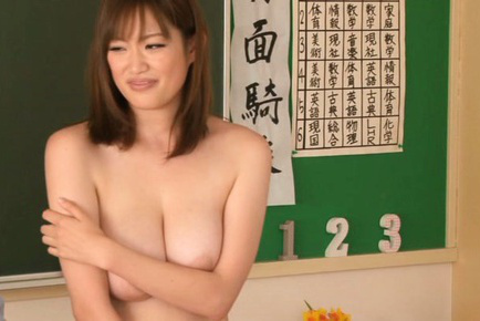 Moe tsukina. Moe Tsukina Asian exposes big cans and has them