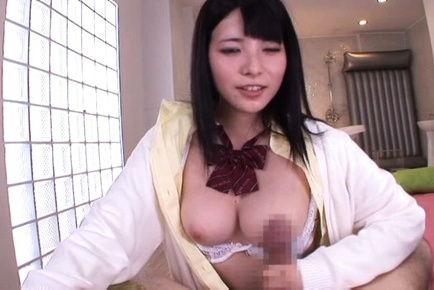 Ai uehara. Ai Uehara Asian with big analy rides cock and rubs it