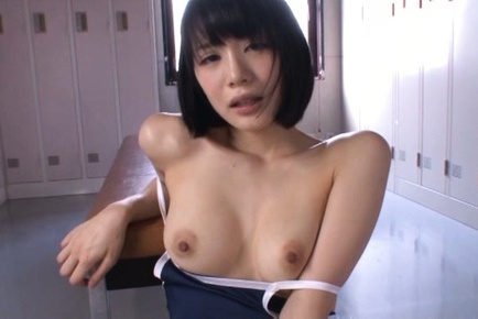 Airi suzumura. Airi Suzumura Asian with nude cans sticks dildo in her love box